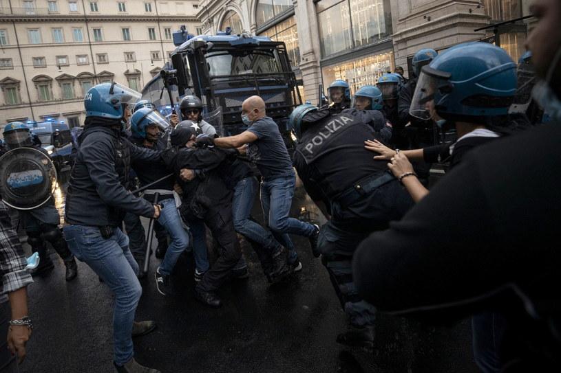 Zamieszki w Rzymie /MASSIMO PERCOSSI /PAP/EPA