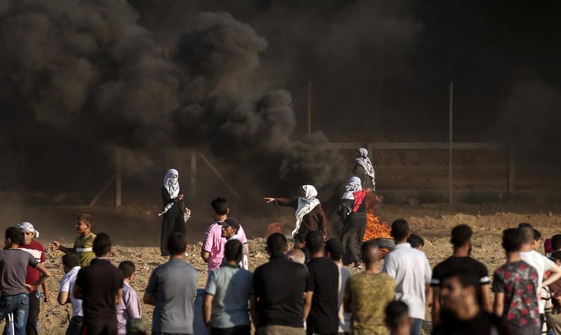 Zamieszki w Strefie Gazy /MAHMUD HAMS /AFP