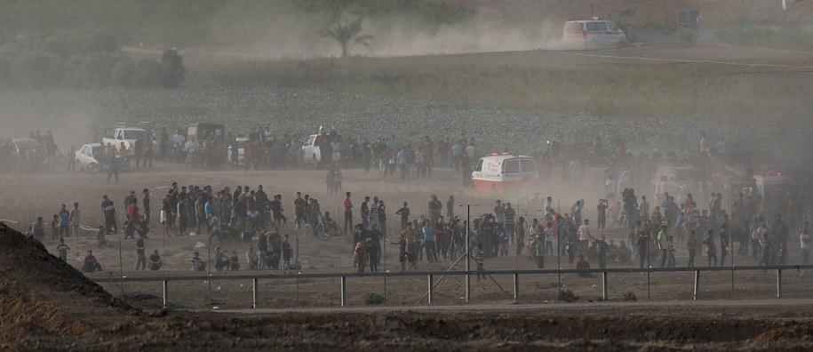 Zamieszki w  Strefie Gazy /ATEF SAFADI  /PAP/EPA