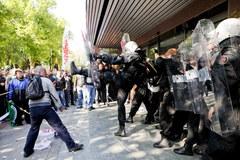 Zamieszki w trakcie protestu związkowców KGHM