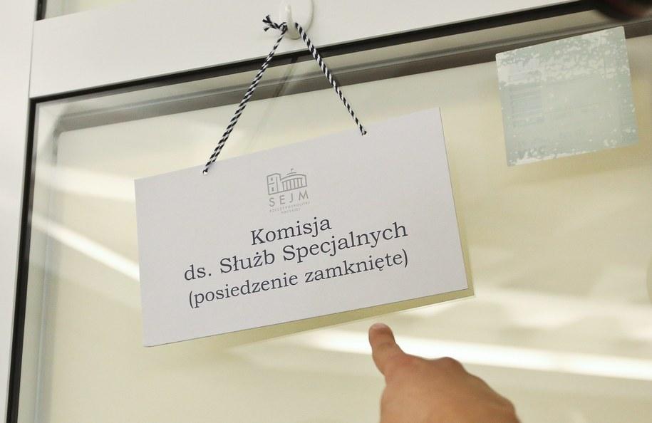 Zamknięte posiedzenie sejmowej Komisji do Spraw Służb Specjalnych /Rafał Guz /PAP