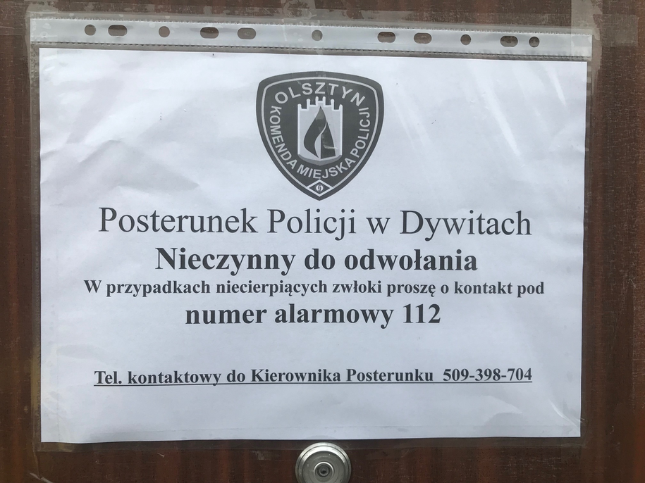 Zamknięty posterunek w Dywitach /Piotr Bułakowski /RMF FM