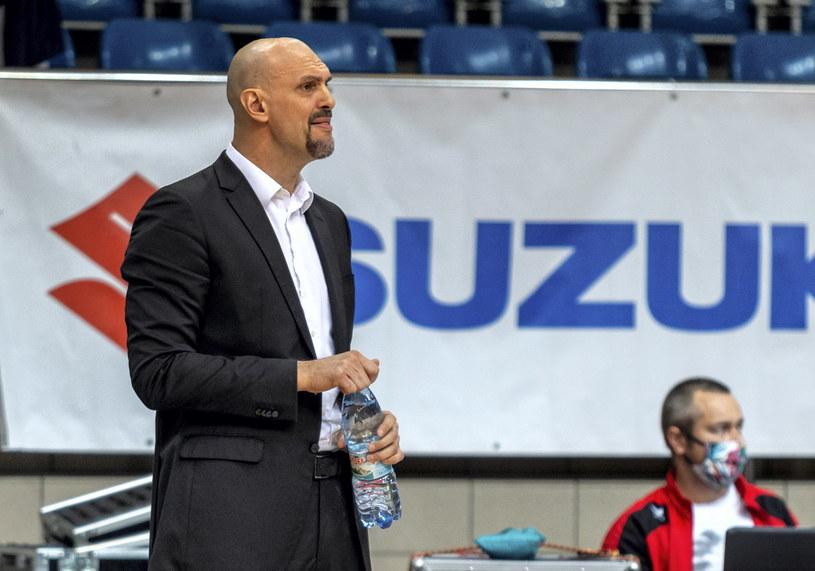Żan Tabak, trener koszykarzy z Zielonej Góry /Andrzej Grygiel /PAP