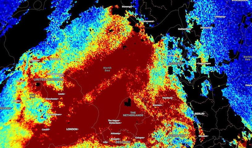 Zanieczyszczenie powietrza nad Europą - zdjęcia z satelity ESA /materiały prasowe