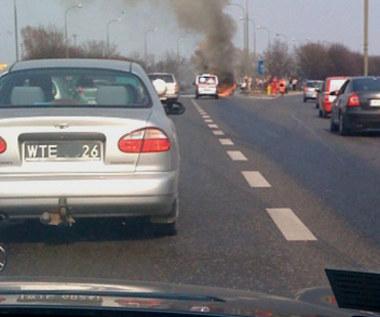 Zapalił się autobus...