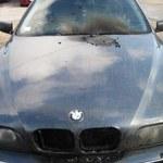 Zapaliło się BMW. W bagażniku znaleziono 18 paczek