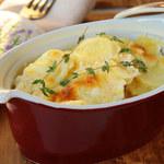 Zapiekanka z ziemniaków, kminku i sera