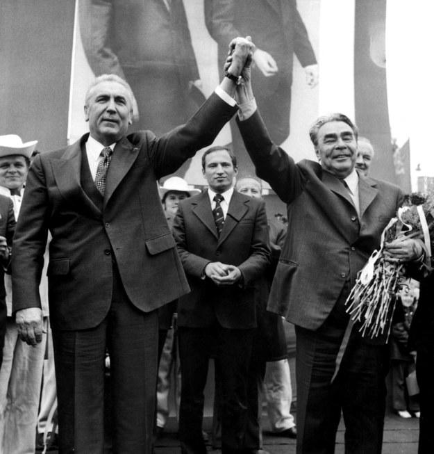 Zapis o przyjaźni ze Związkiem Radzieckim znalazł się w konstytucji PRL z 1976 r. Na zdjęciu Edward Gierek i Leonid Breżniew /Jan Morek /Agencja FORUM