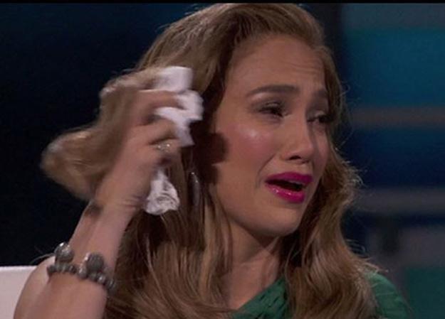 """Zapłakana Jennifer Lopez w amerykańskim """"Idolu"""" /"""