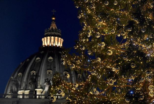 Zapłonęły światła na choince na placu Świętego Piotra /ETTORE FERRARI /PAP/EPA