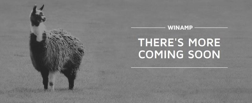 Zapowiedź czegoś nowego - grafika umieszczona na stronie Winampa /materiały prasowe