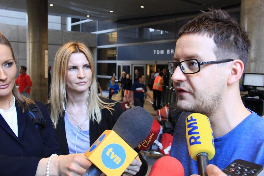 Zapracowany Łukasz Żal /Paweł Żuchowski /RMF FM