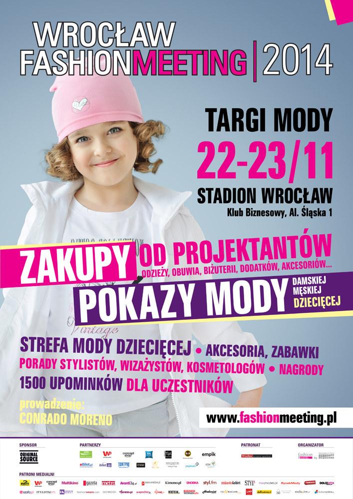 """Zapraszamy do strefy mody dziecięcej """"KIDS Fashion"""" podczas Wrocław Fashion Meeting /materiały prasowe"""