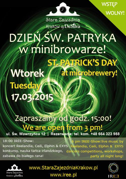 Zapraszamy na Dzień Św. Patryka w Starej Zajezdni Kraków /materiały prasowe