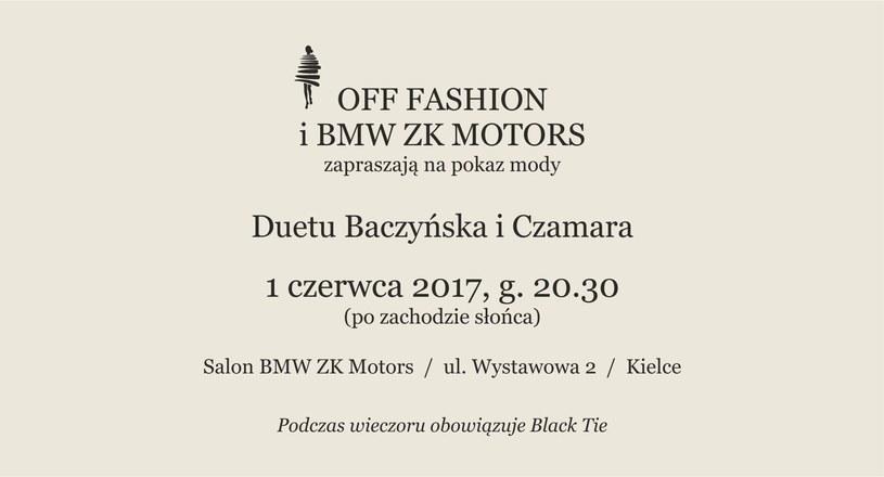 Zapraszamy na pokaz mody duetu Baczyńska i Czamara! /materiały prasowe