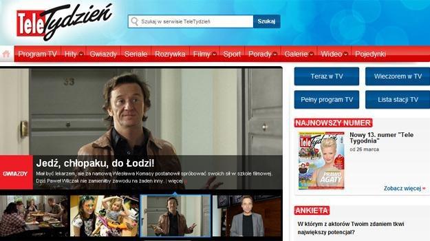 Zapraszamy na stronę www.teletydzien.pl /INTERIA.PL