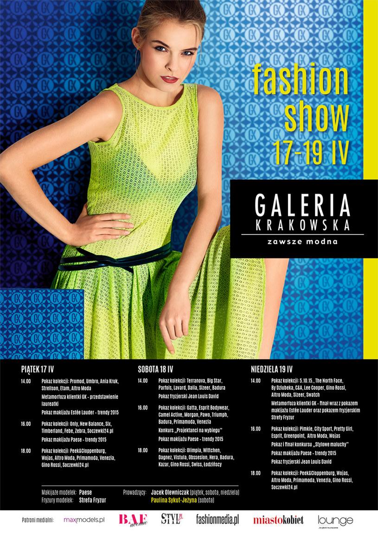 Zapraszamy na wiosenne Fashion Show w Galerii Krakowskiej /materiały prasowe