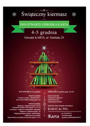 Zaproszenie na Dni Otwarte Ośrodka KARTA /materiały prasowe