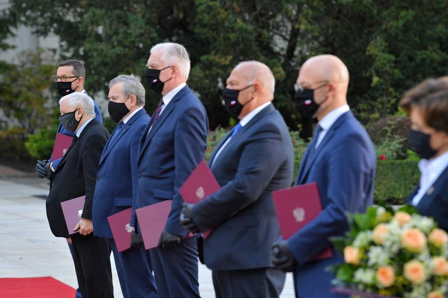 Zaprzysiężenie rządu w ogrodach Pałacu Prezydenckiego /PAP
