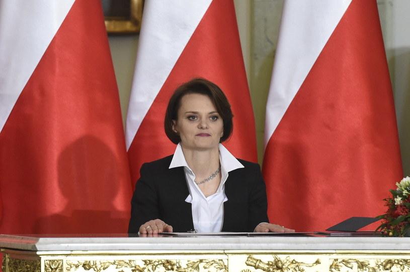 Zaprzysiężona na stanowisko ministra przedsiębiorczości i technologii Jadwiga Emilewicz /Radek Pietruszka /PAP