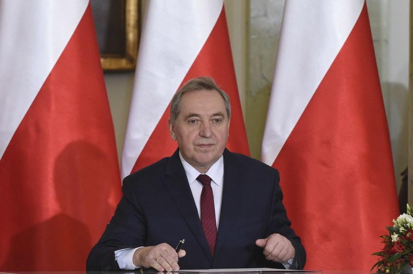 Zaprzysiężony na stanowisko ministra środowiska Henryk Kowalczyk /Radek Pietruszka /PAP