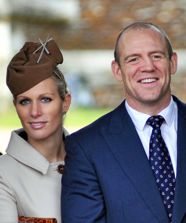 Zara Tindall, wnuczka królowej Elżbiety II, i jej mąż Mike Tindall /MALCOLM CLARKE /PAP/EPA