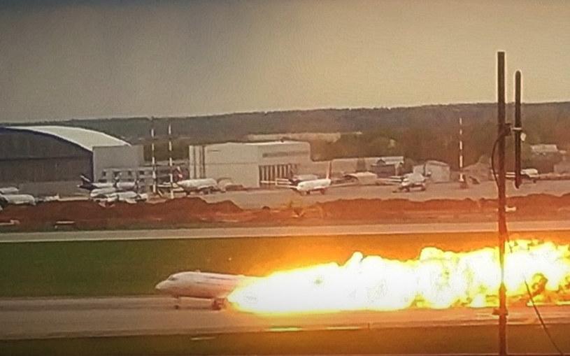 Zaraz po lądowaniu w maszynie wybuchł pożar /Sergei/Xinhua via ZUMA Wire /Agencja FORUM