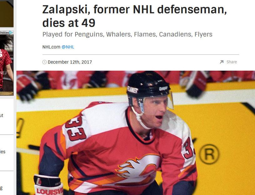 Zarley Zalapski / nhl.com /