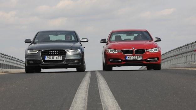 Zarówno Audi A4, jak i nowe BMW serii 3 stylistyką nawiązują do większych sedanów tych marek, modeli A6 i serii 5. /Motor