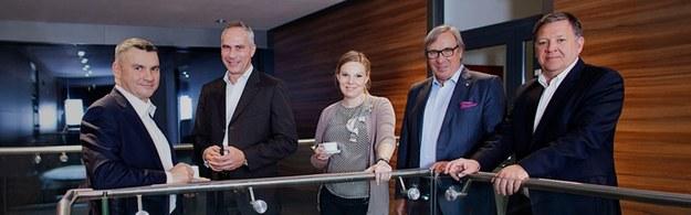 Zarząd Forte (drugi z prawej Maciej Formanowicz, prezes spółki). Fot. informacja prasowa /&nbsp
