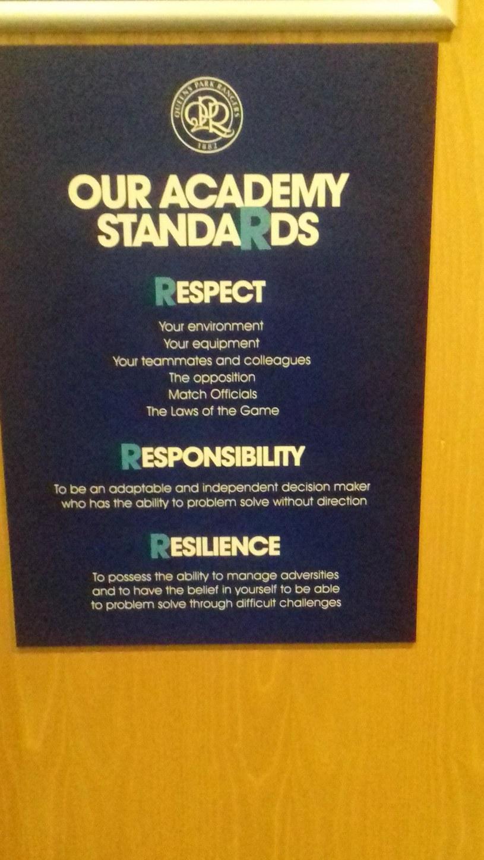 Zasady obowiązujące w akademii Queens Park Rangers /Archiwum prywatne /