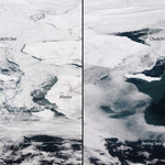 Zasięg pokrywy lodowej na dramatycznym poziomie