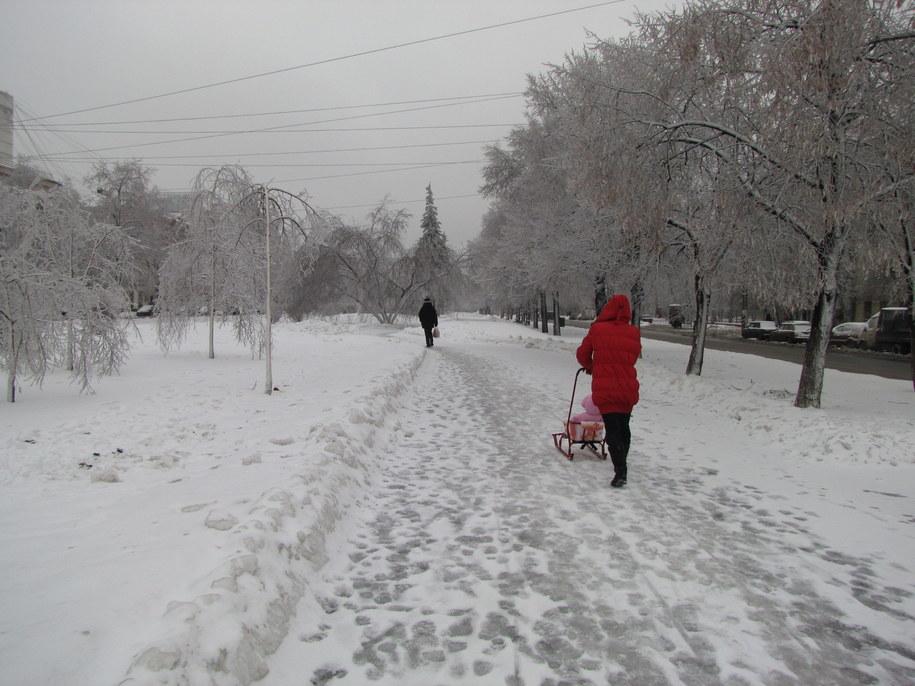Zaśnieżona i oblodzona Moskwa  /Przemysław Marzec /RMF FM