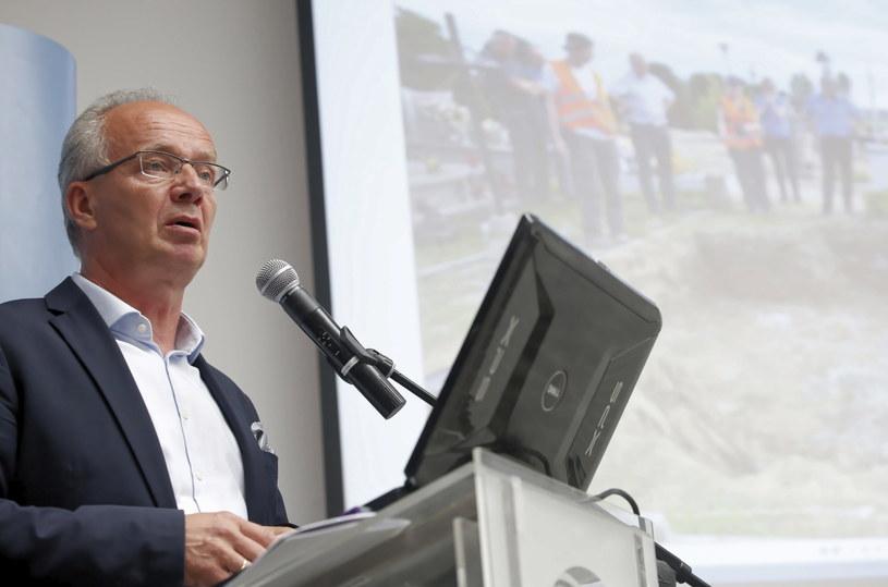 Zastępca prezesa IPN i p.o. dyrektora Biura Poszukiwań i Identyfikacji prof. Krzysztof Szwagrzyk podczas konferencji prasowej /Adam Guz /PAP