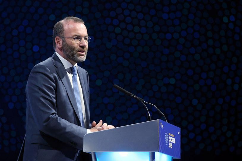 Zastępca przewodniczącego bawarskiej CSU Manfred Weber /Damir Sencar /AFP