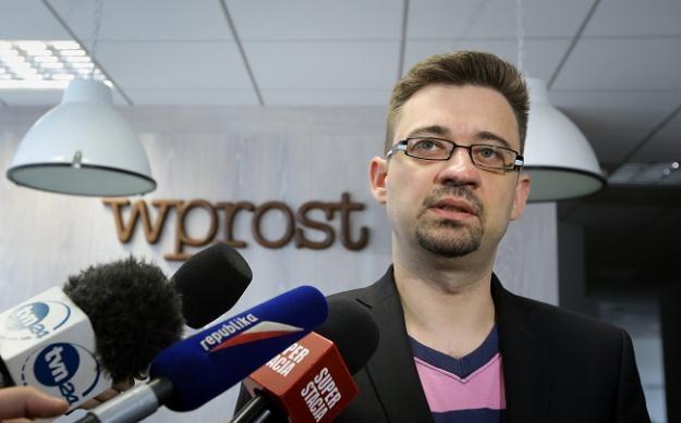 """Zastępca redaktora naczelnego """"Wprost"""" Marcin Dzierżanowski, fot. Paweł Supernak /PAP"""