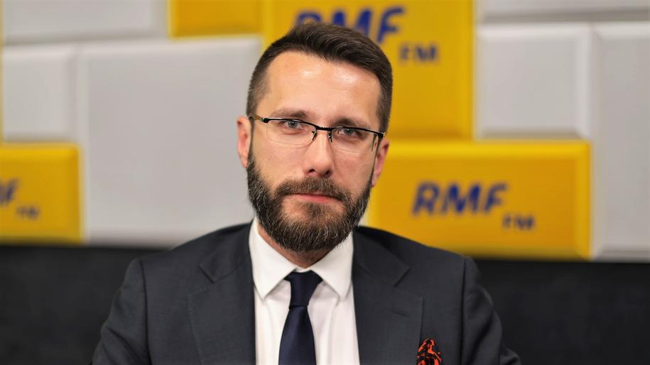 Zastępca rzecznika PiS Radosław Fogiel /Michał Dukaczewski /RMF FM
