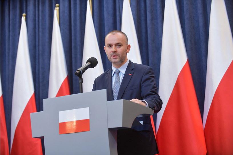 Zastępca szefa kancelarii prezydenta Paweł Mucha podczas konferencji prasowej w Pałacu Prezydenckim / Marcin Obara  /PAP
