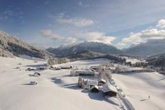 Zasypana śniegiem Bawaria