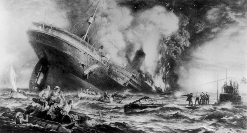 Zatonięcie Lusitanii fot. Three Lions Hulton Archive /Getty Images