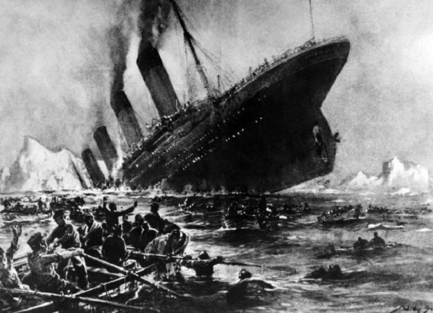 Zatonięcie Titanica. Rysunek nieznanego artysty /AFP