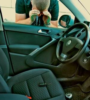 zatrzaśnięte kluczyki /Motor