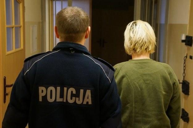 Zatrzymana kobieta /Policja