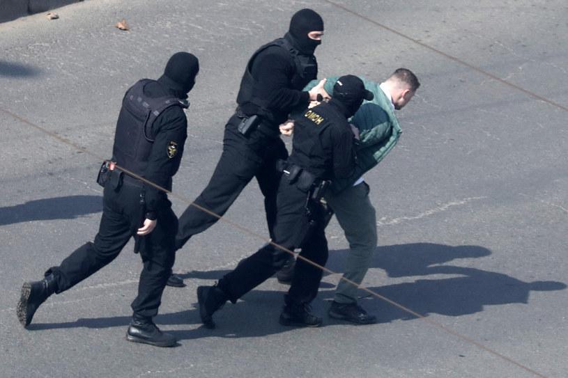 Zatrzymania na Białorusi /AFP