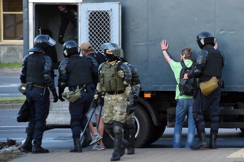 Zatrzymania podczas demonstracji w Mińsku; zdj. ilustracyjne /AFP