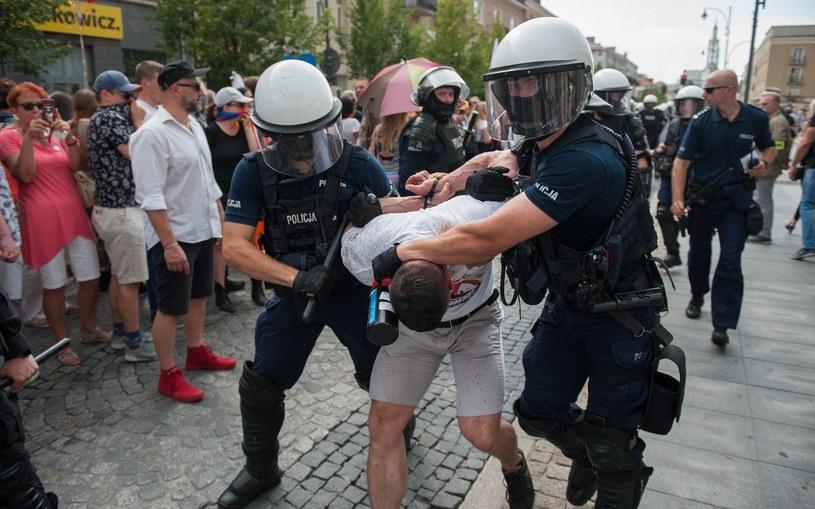 Zatrzymania podczas Marszu Równości w Białymstoku /Mateusz Banel /Reporter