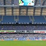 Zatrzymania za skandaliczny transparent na stadionie