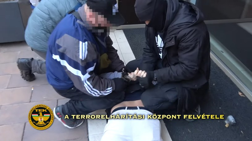 Zatrzymanie 24-letniego Polaka w Budapeszcie /Police.hu /