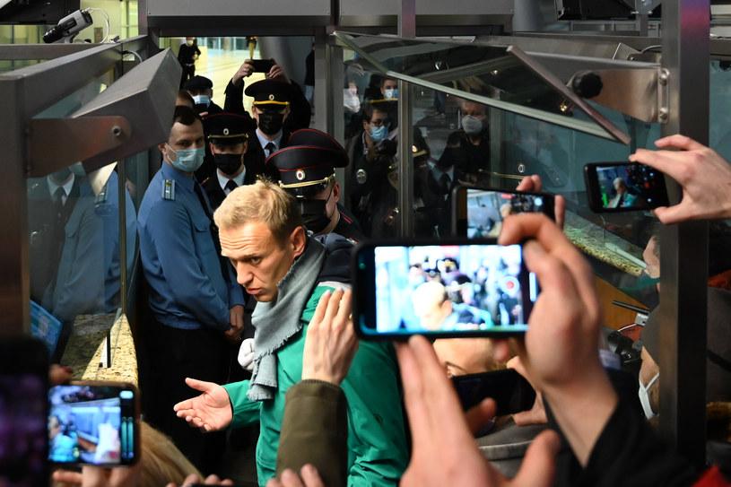 Zatrzymanie Aleksieja Nawalnego na lotnisku Szeremietiewo w Moskwie /AFP
