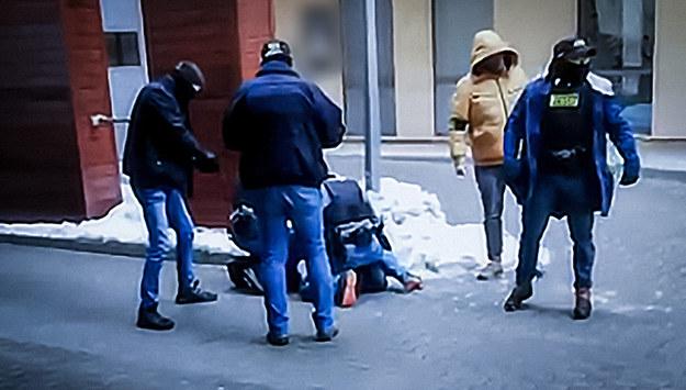 Zatrzymanie jednego z członków Psychofans /Policja